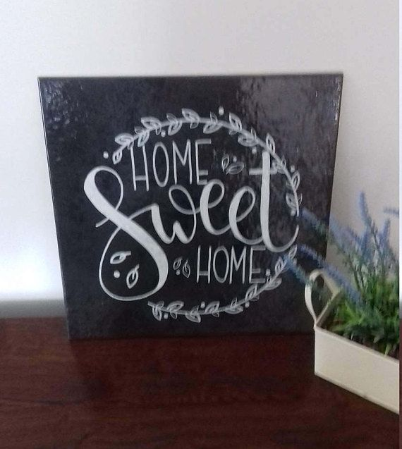 Decorative Slate Signs Captivating Home Sweet Home Decorative Slate Sign  Tile  Slate Signs 2018