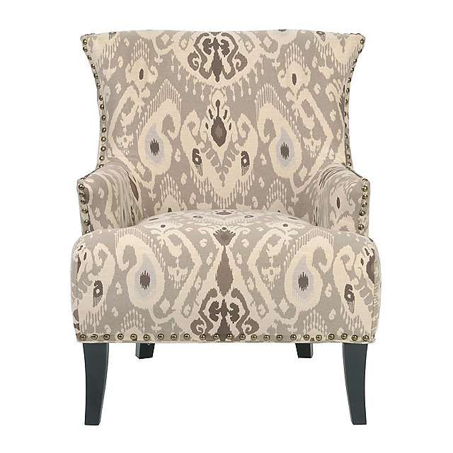 Renee Taupe Ikat Arm Chair | Kirklands