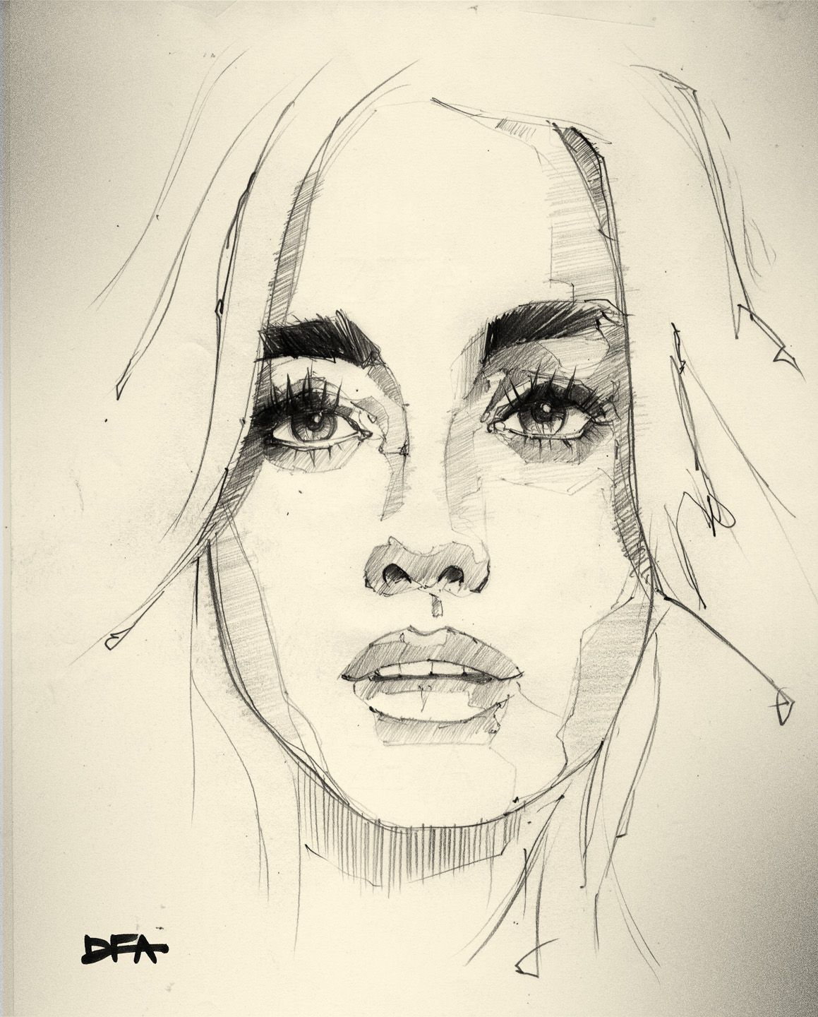 Drawing stunning lines gorgeous sketch and great soft technique i love it drawingideas drawingfaces artsketchbookideas sketching