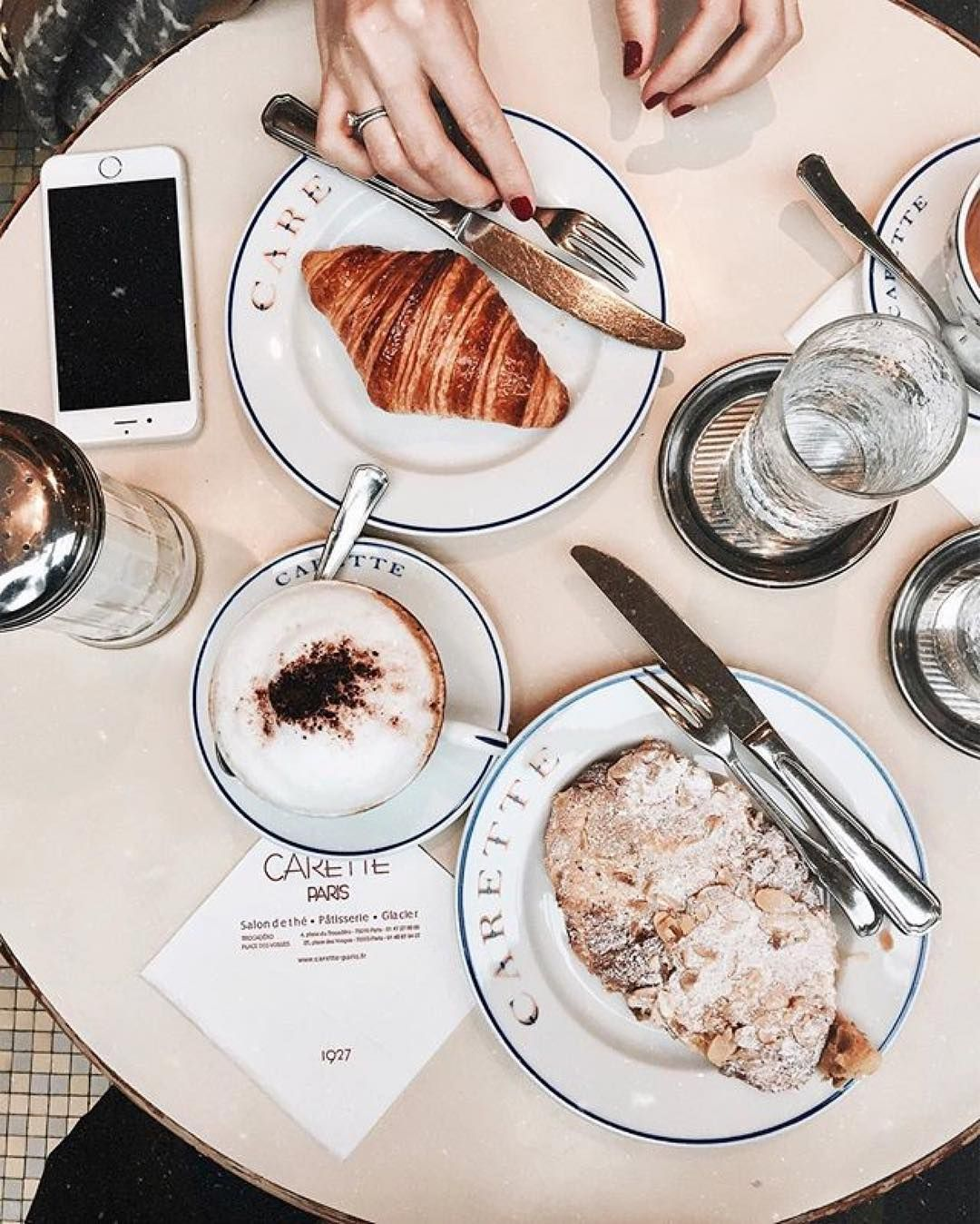 Croissants are my favourite! What are yours? : @paris.with.me #GetCoffeeBeHappy