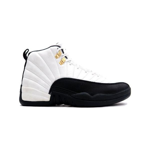 huge selection of 45e26 3d08f Air Jordan Original OG 12 (XII) Taxis White Black Taxi ❤ liked on Polyvore