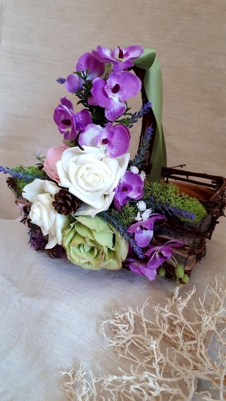 flower girl baskets rustic