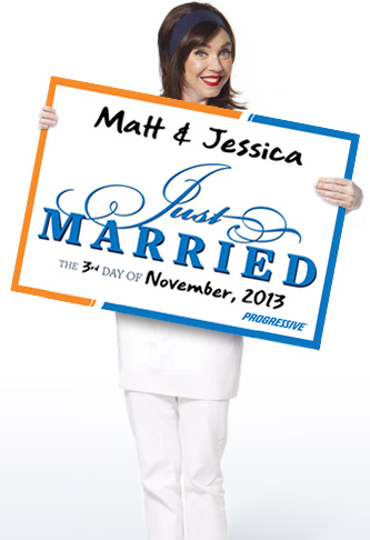 Progressive Auto Quote Free Just Married Sign From Progressive  Freebies  Pinterest