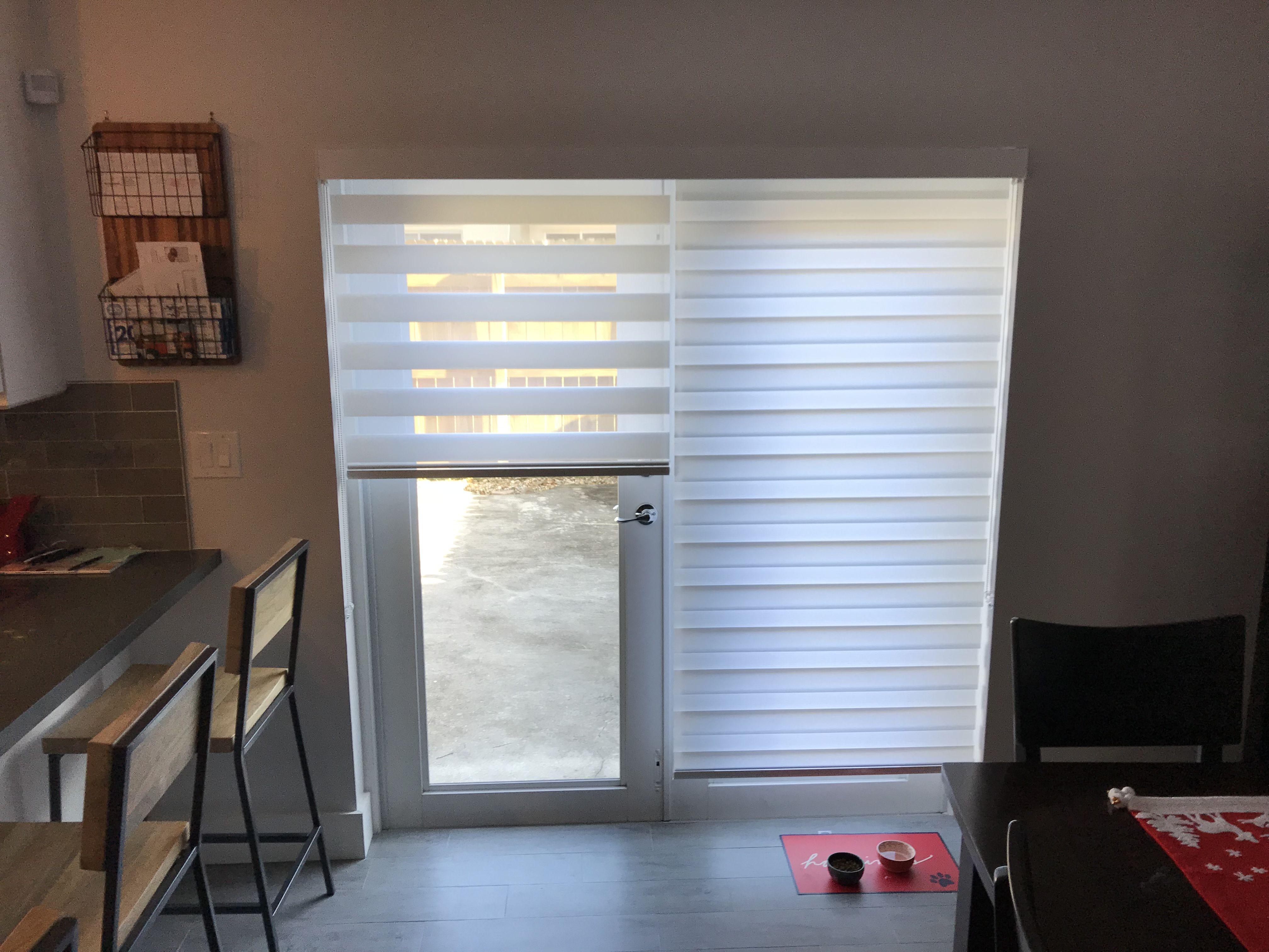 2in1 Zebra Illusion Privacy Shade By Elite Decor Miami Blinds