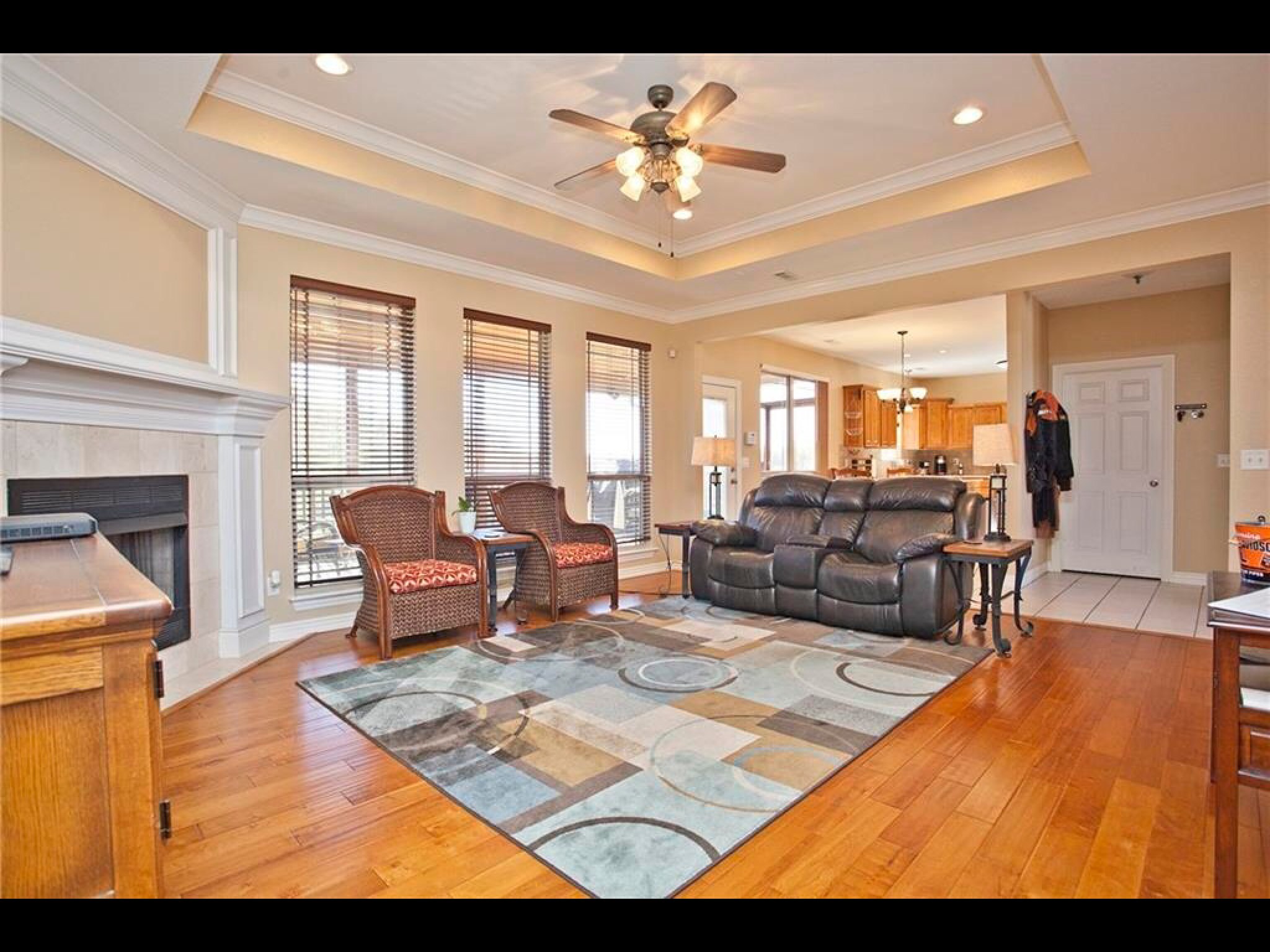 John Easterling Construction Inc Living room, custom