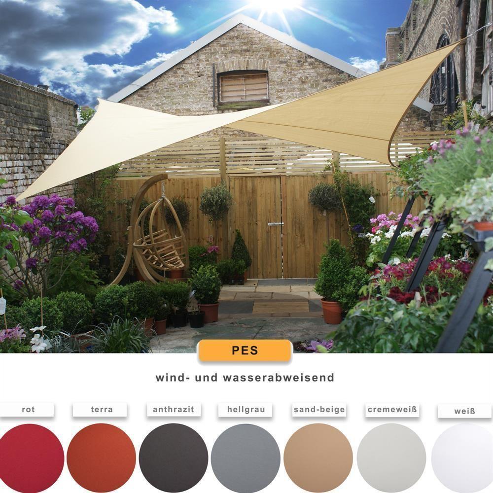 details zu sonnensegel sonnenschutz tarp beschattung garten sichtschutz wasserabweisend pes. Black Bedroom Furniture Sets. Home Design Ideas