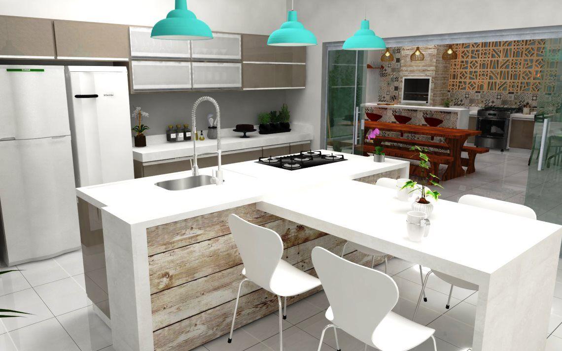 Cozinha Com Ilha Central 50 Modelos Fotos E Projetos Ilhas