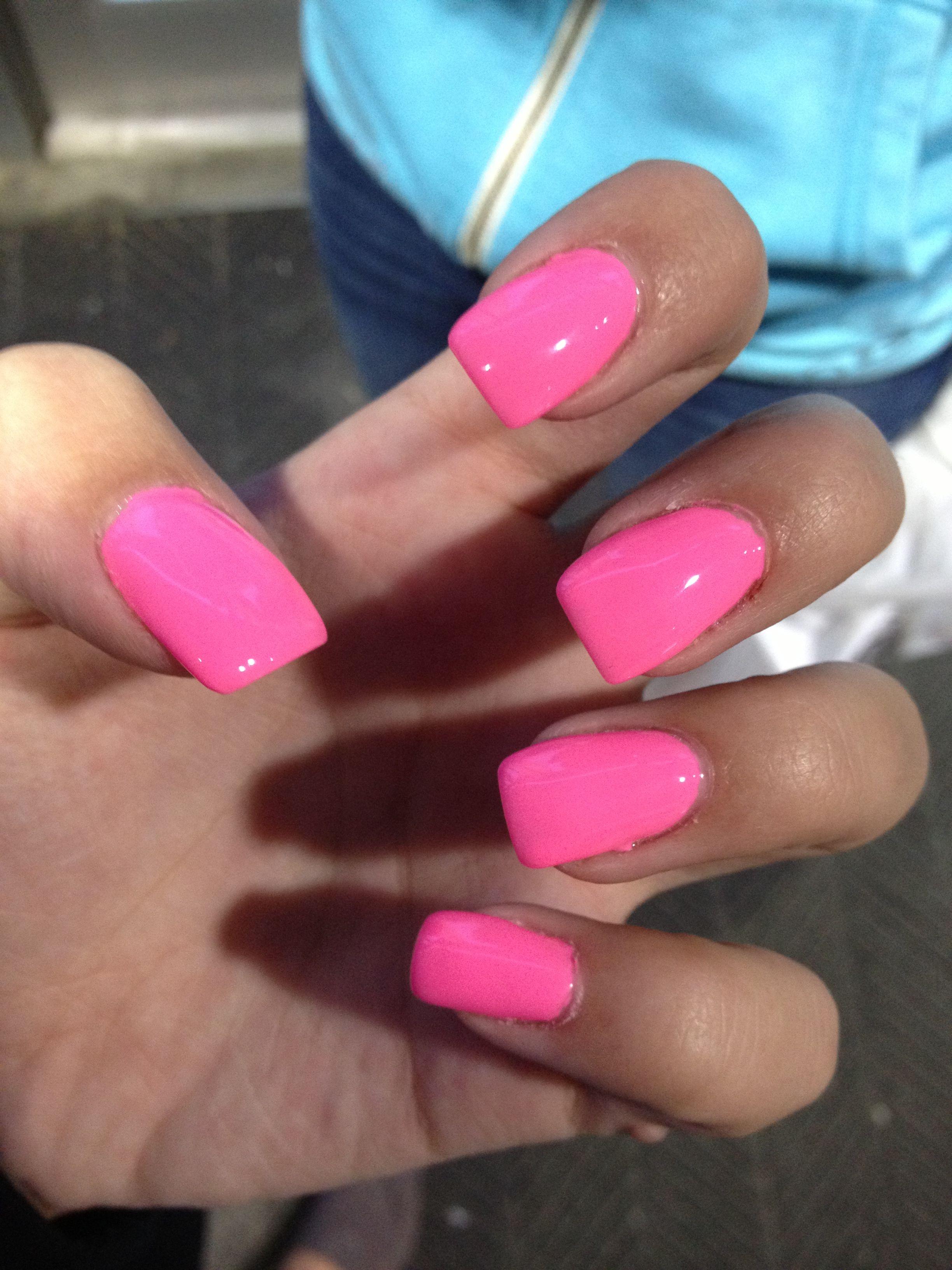Pin By April Mcgowan On Nails Pink Acrylic Nails Bright Nail Art Bright Pink Nails