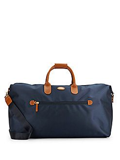 59f9ad1cd8 Bric s - 22-Inch Leather Trimmed-Canvas Duffel Bag