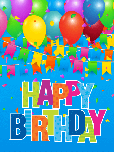 Colorful Happy Birthday Card To Loved Ones On Amp