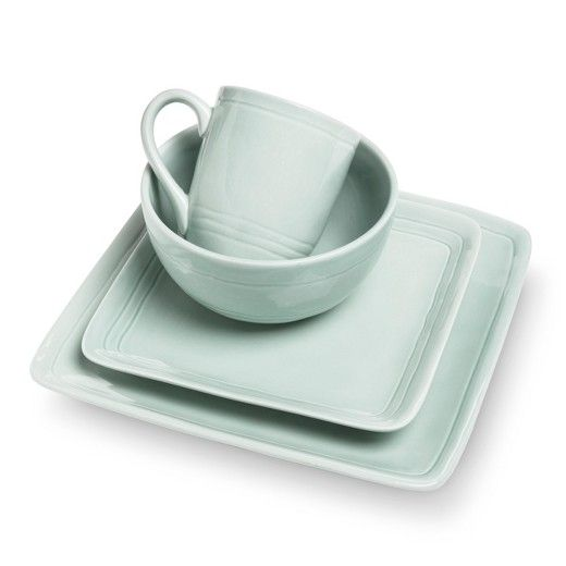Add a little personality to your table setting with the Cooper Teal Stoneware Dinnerware Collection from  sc 1 st  Pinterest & Add a little personality to your table setting with the Cooper Teal ...