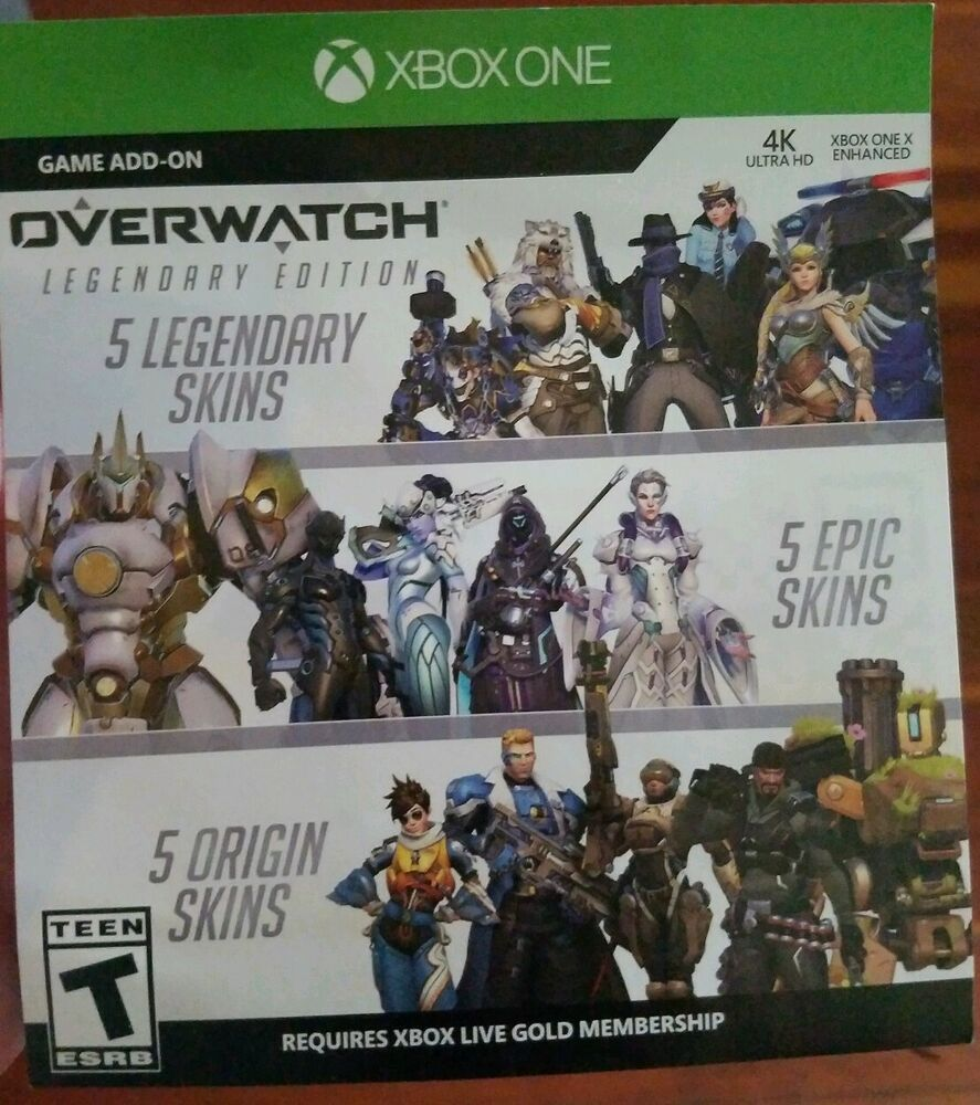 what skins does overwatch legendary edition come with
