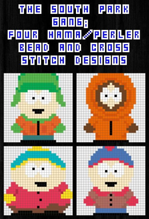 Patterns For South Park Characters Cross Stitch Or Hama Beads