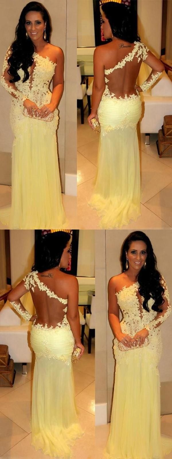 Cheap morden prom dresses yellow prom dresses prom dresses