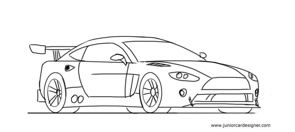 How To Draw A Race Car Car Drawings Pinterest Tutorials