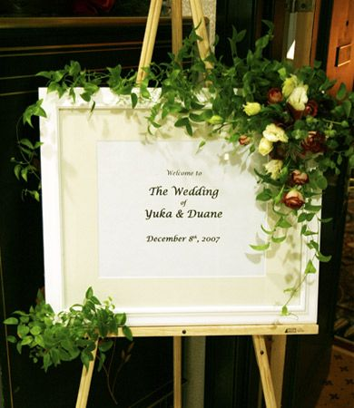 Photo Of Wedding Ceremony Welcome Board With Flower Decoration