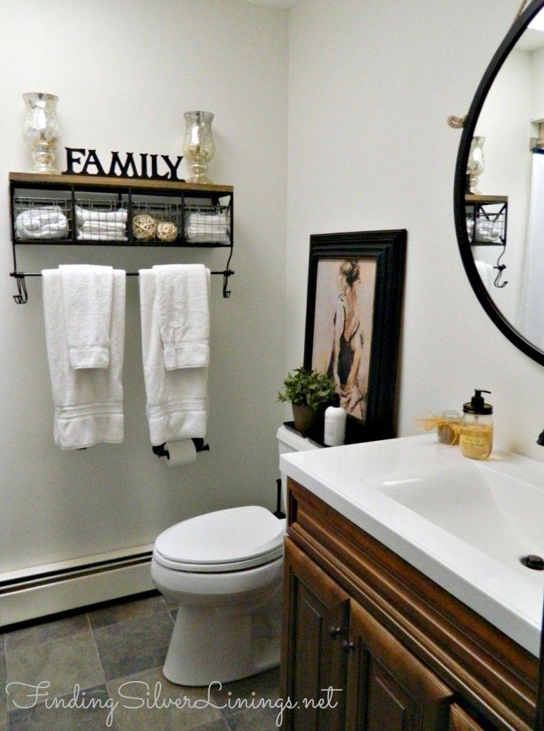 Remodeled Bath With Shelving Bathroom Decor Hobby Lobby Bathroom Decor Bathroom Makeover
