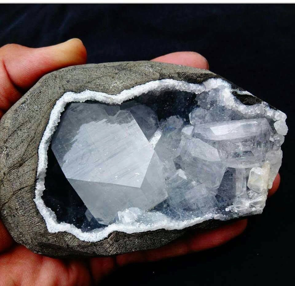 Apophyllite In Geode From India Minerals And Gemstones Crystals Minerals Rocks And Minerals