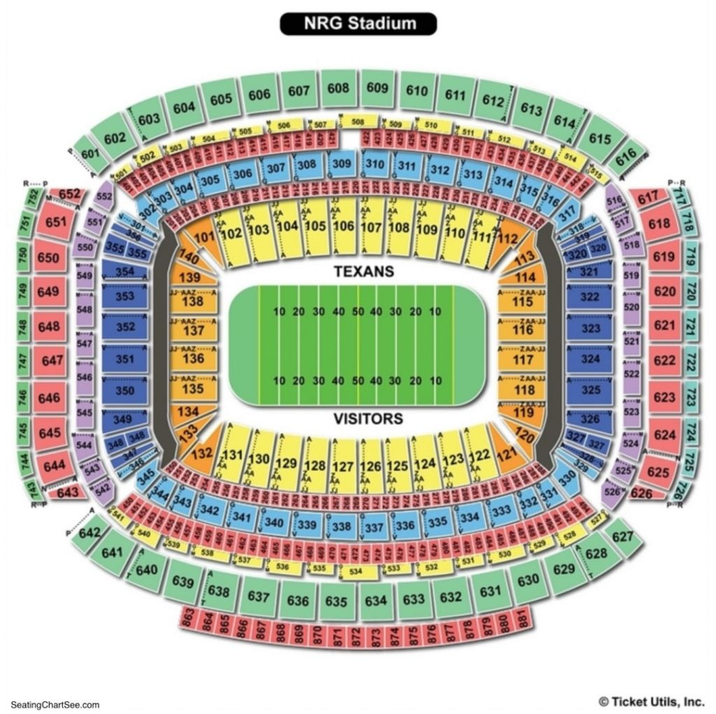 Nrg Stadium Seating Chart In 2020 Nrg Stadium Reliant Stadium Seating Charts