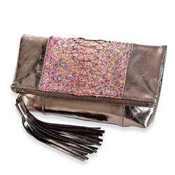 metalic-python-leather-clutch-purse