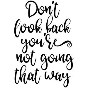 Silhouette Design Store: Don't Look Back