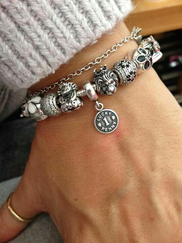 769a06992 Pandora Bracelet Charms, Charm Bracelets, Pandora Jewelry, Silver Jewelry,  Lucky Penny,