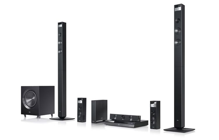 Lg 3dcapable bluray disc home theater system with smart