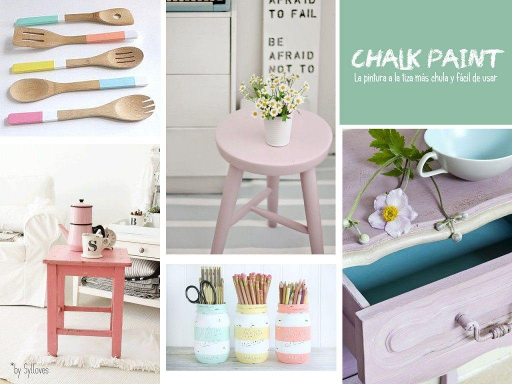 Chalk paint las pinturas a la tiza m s chulas y f ciles - Pintura acrilica para muebles ...