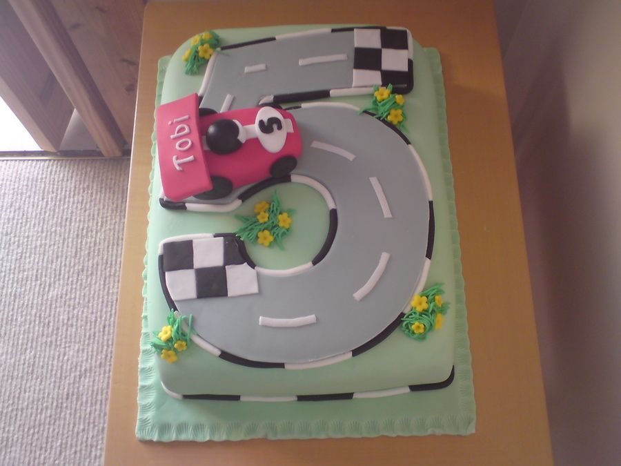 Birthday Cakes For  Year Old Boy Race Car Birthday Cake For A - 5th birthday cake boy
