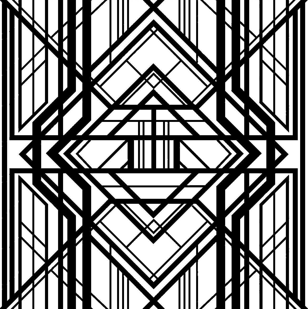 Geometric pattern, lozenge Art deco pattern, Art deco
