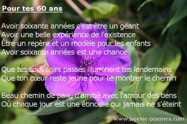 Texte Anniversaire 60 Ans Femme Amie