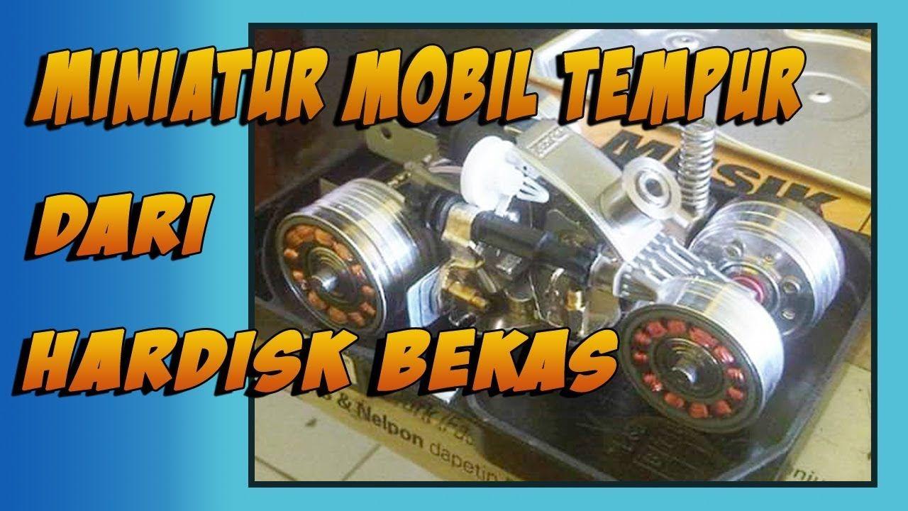 Miniatur Mobil Tempur Dari Hardisk Bekas Diy Hand Craft Youtube
