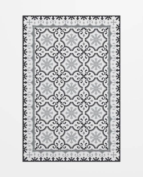 alfombra imitacin mosaico modernista