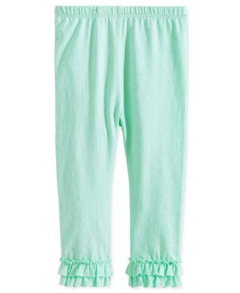 344cb1ae70445 First Impressions Toddler Girls Ruffled-Hem Leggings, Created for Macy's -  Green 4T