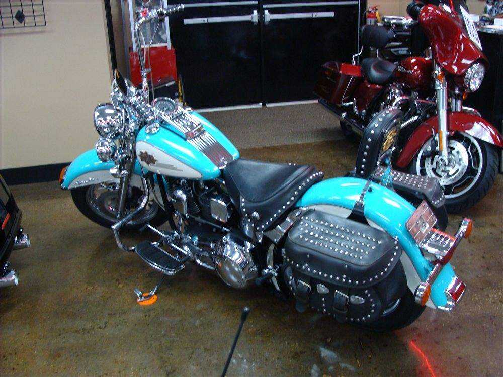 Image Detail For Teal Cream 1997 Harley Davidson Heritage Softail In Columbia Sc Harley Harley Davidson Bikes Harley Davidson Motorcycles