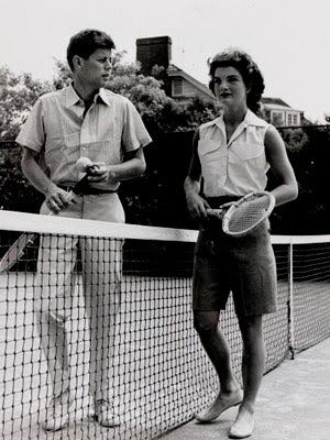 JFK and Jackie on the court