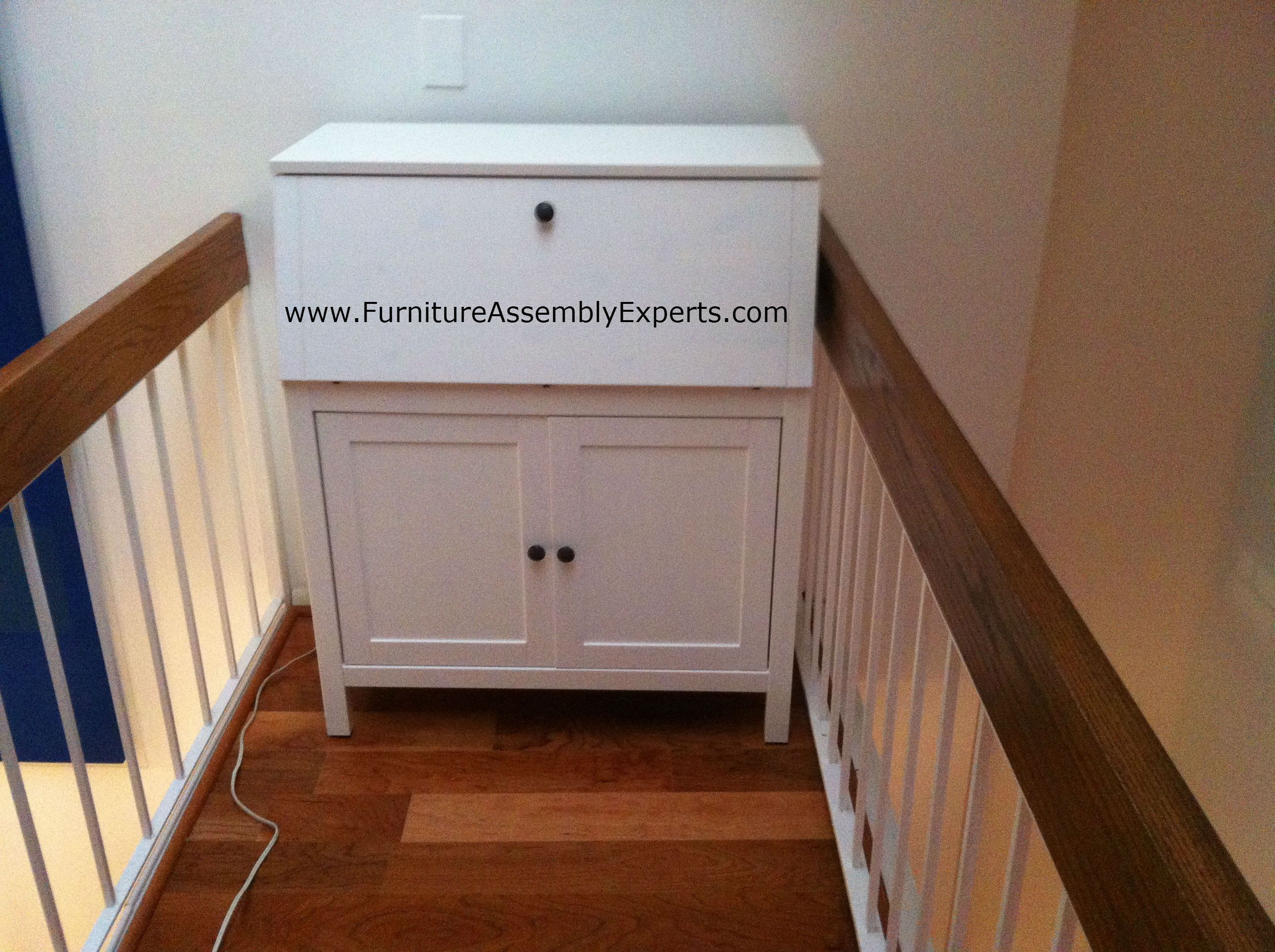 Ikea hemnes secretary desk assembled in pikesville md by furniture