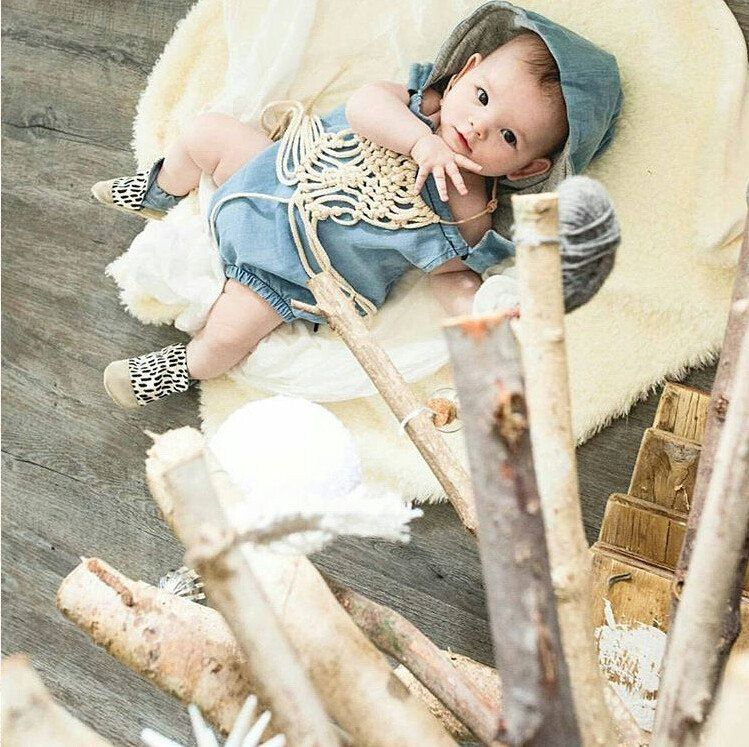 9f3ad005f4a 2016 Newborn Kids Baby Girls Infant Clothes Hooded Cute Cotton Backless  Rompers Summer Denim Jumpsuit Summer Clothing