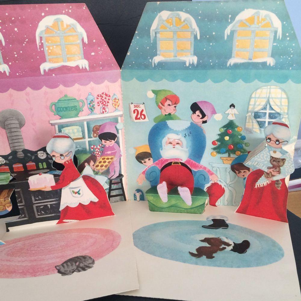 Hallmark A Visit To Santa Land Pop Up Card Vintage Japan