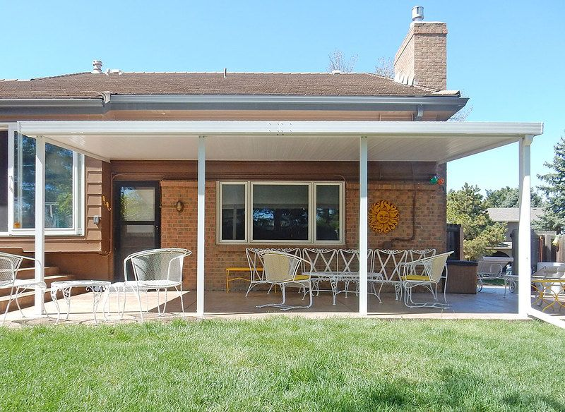 Teton Patio Cover With Flat Roof Panels Roof Panels Covered Patio Patio