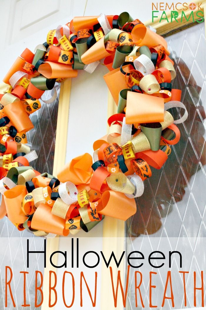 Photo of DIY Halloween Ribbon Wreath Tutorial – Nemcsok Farms