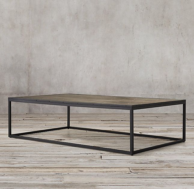Metal Parquet Coffee Table