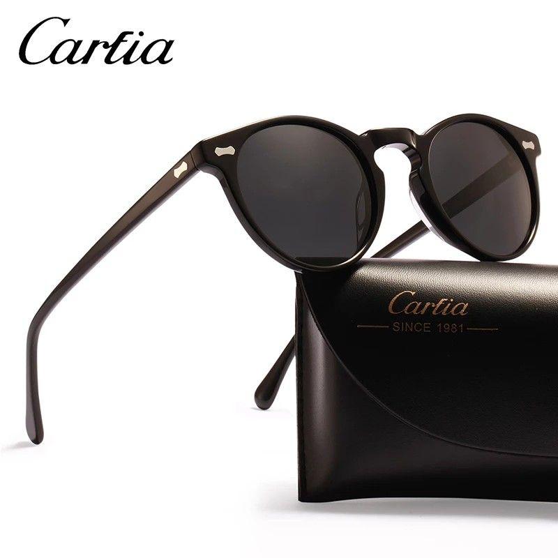 5ee1162a76d Vintage Round Sunglasses - Carfia Polarized Sunglasses for Women Men ...