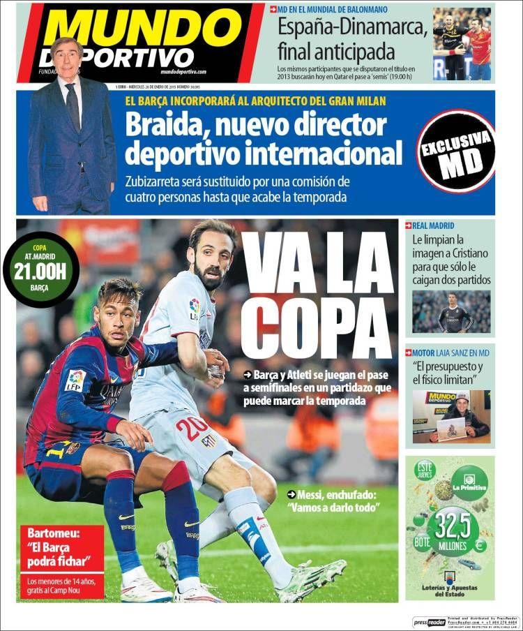 Final anticipada en el Calderón, Atlético y Barça a punto