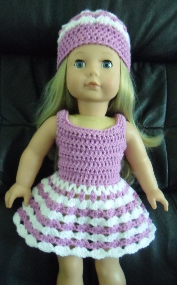 PDF Crochet pattern for 18 inch doll Dress and hat by petitedolls ...