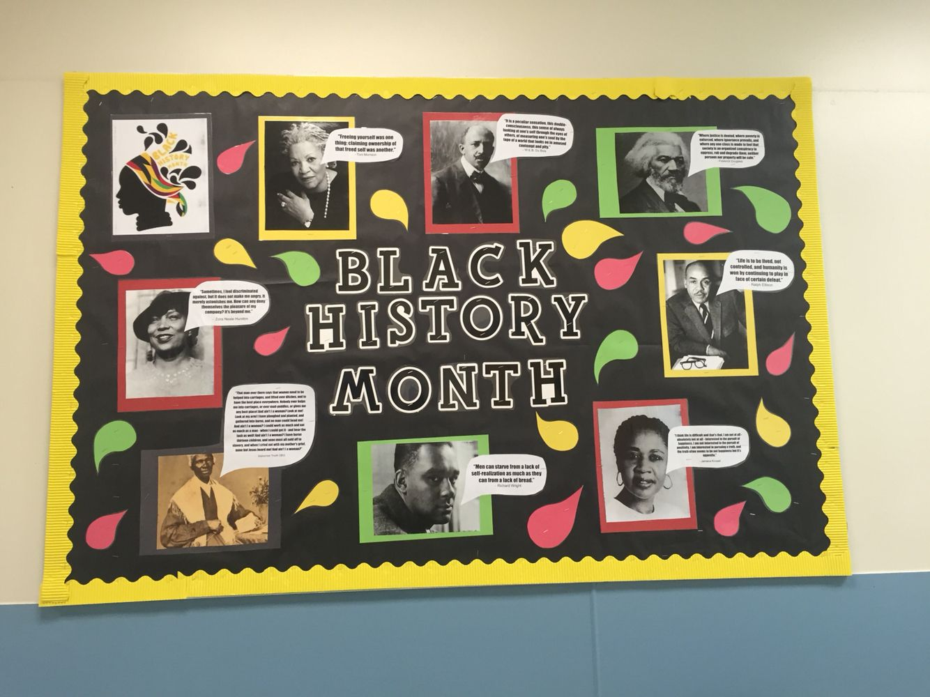 black history month bulletin board | nailed it. | pinterest | black