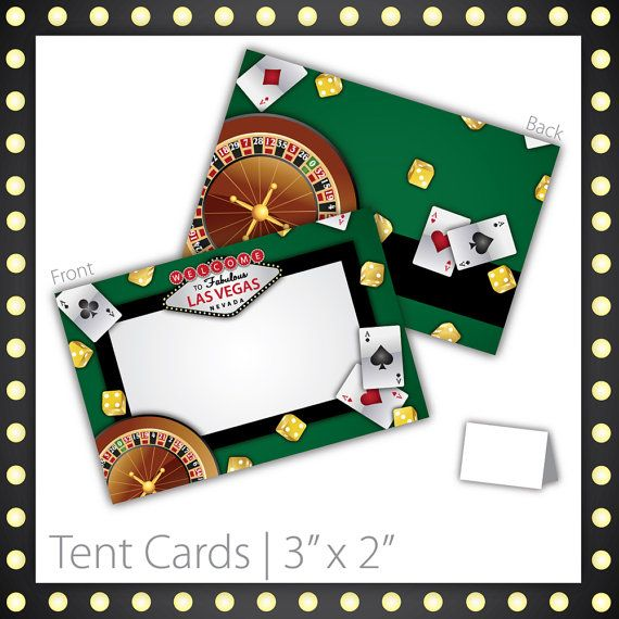 Casino Party Tent Cards Blank Printable Instant Download Lucky Draw 6 00 Size 3 W X 2 H Casino Tent Ca Tent Cards Vegas Theme Party Casino Party