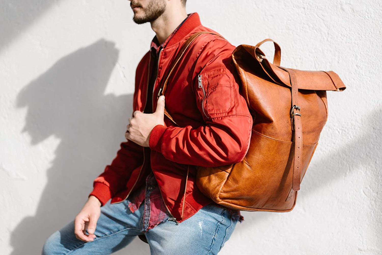 Berliner Bags Berlin Paris Rucksack Leather Backpack Vintage Brown Leder Men Women Fashion Style Fahrradrucksack Lederrucksack Modestil