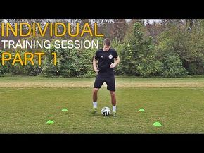 Train Like A Pro Individual Training Session Part 1 Improve Footwork Fast Youtube Soccer Training Program