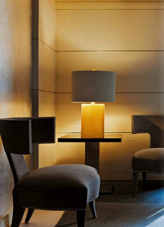 Sessel, Beistelltisch, Lampe von DONGHIA http://decoris.ch ... on Decoris Outdoor Living id=79063